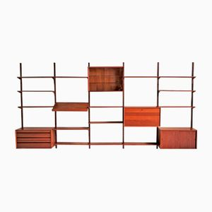 Danish Wall Bookcase by Poul Cadovius for Royal System, 1960s