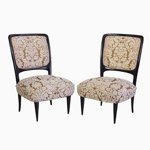 Handgemachte Italienische Mahagoni Stühle, 1960er, 2er Set