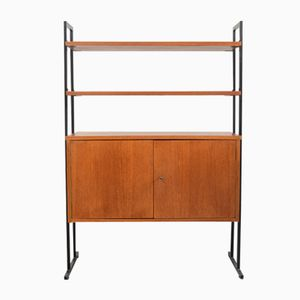 Mid-Century Modular Shelf with Cabinet