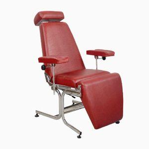 Sedia da dentista in similpelle rossa, anni '70