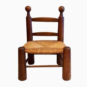 Vintage Straw Cane Chair