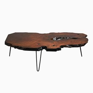 Mid-Century Modern Live Edge Wood Coffee Table, 1960s