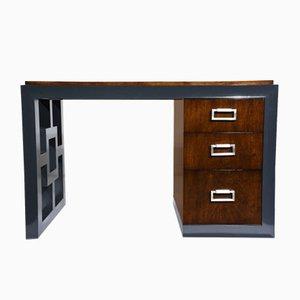 Mid-Century Modern Two Tone Kneehole Desk, 1960s