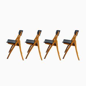 Chaises Pliables Scandinaves Vintage, Set de 2