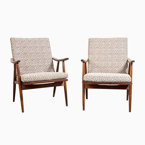 Vintage Czechoslovak Armchairs, Set of 2