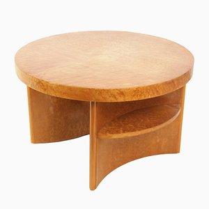Tavolino da caffè Art Déco in acero occhiolinato