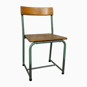 Mid-Century Industrial Belgian School Chair from Emile Semal