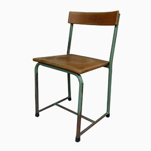 Mid-Century Industrial School Chair from Emile Semal