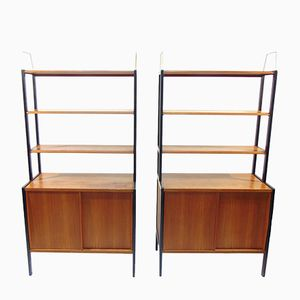 Swedish Teak Shelves by Bertil Fridhagen for Bodafors, 1957, Set of 2
