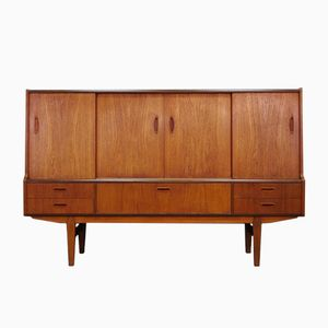 Dänisches Mid-Century Teak-Furnier Highboard