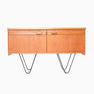 British Teak Sideboard on Hairpin Legs, 1970s