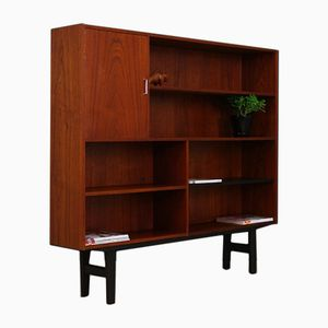 Mid-Century Danish Teak Veneer Bookshelf or Wall Unit