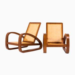 Kolonial Sessel, 1950er, 2er Set