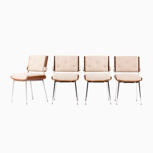 Chairs by Alain Richard, 1960, Set of 4