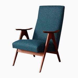 Vintage Dutch High-Back Armchair