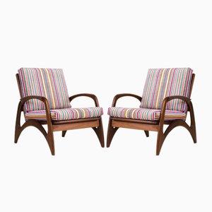 Organic Teak Lounge Chairs from De Ster Gelderland, 1960s, Set of 2