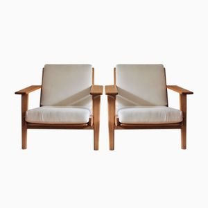 Mid-Century GE 290 Lounge Chairs by Hans Wegner for Getama, Set of 2