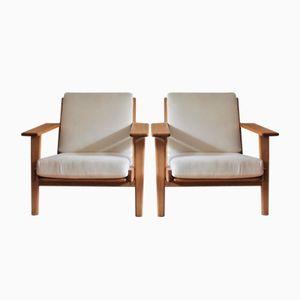 Mid-Century GE 290 Sessel von Hans Wegner für Getama, 2er Set