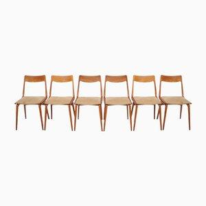 Dänische Vintage Boomerang Stühle aus Teak von Erik Cristensen für Slagelse, 6er Set