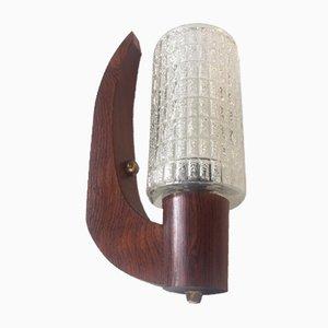 Applique a forma di arco in palissandro di Uno & Östen Kristiansson per Luxus, Svezia, anni '60