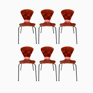 Bentwood Chairs by Fritz Hansen, 1960s, Set of 6