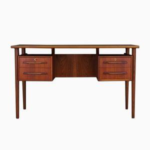 Mid-Century Teak Veneer Danish Desk