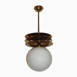 Lampe à Suspension Art Déco, 1950s