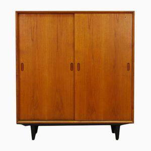 Vintage Scandinavian Teak Veneer Cabinet