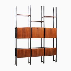 Mid-Century Rosewood Veneer Double Sided Wall Unit by Frigerio Giovanni, Desio
