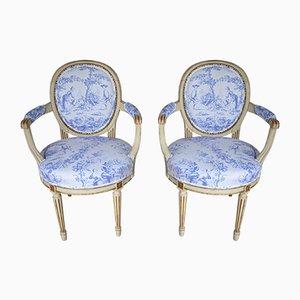 Sedie gustaviane, fine XIX secolo, set di 2