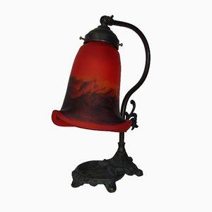 Vintage Art Nouveau Lamp from Frères Muller