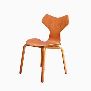 Teak Grand Prix Stuhl von Arne Jacobsen für Fritz Hansen, 1960er