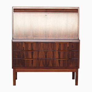 Vintage Rosewood Veneer Secretary Desk by Erling Torvits for Klim Møbelfabrik