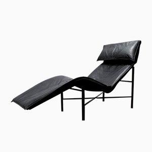 Skye Chaiselongue aus Schwarzem Leder von Tord Björklund für Ikea, 1980er