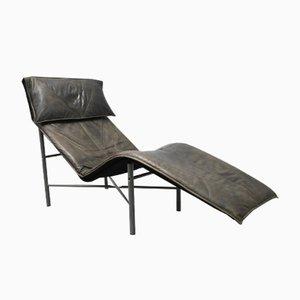 Skye Chaiselongue aus Braunem Leder von Tord Björklund für Ikea, 1980er