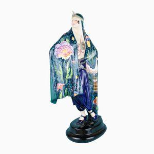 Art Deco Aida Keramik Figur von Josef Lorenzl für Goldscheider, 1920er