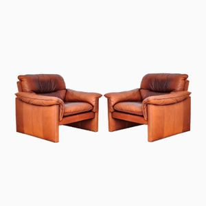 Mid-Century Leather Chairs, 1970s, Set of 2