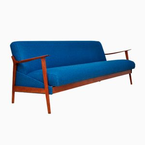 Navy Blue Fold Out Sofa, 1960s