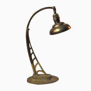 Lampada da tavolo Art Nouveau in ottone, Austria, anni '10