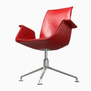 FK 6725 Red Leather Chair by Preben Fabricius & Jørgen Kastholm for Walter Knoll, 1980s