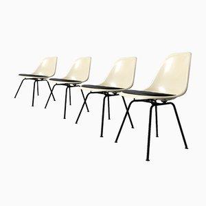 DSX Fiberglas Stühle von Charles & Ray Eames für Vitra, 1980er, 4er Set