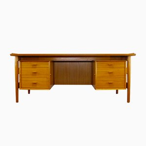 Teak Executive Desk by Arne Vodder for Sibast Furniture, 1960s