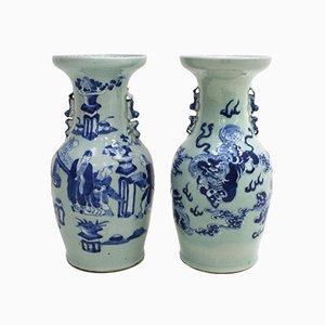Chinesische Vasen aus 19. Jhdt., 2er Set