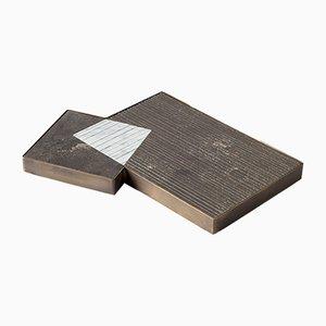 Vassoio PLAT-EAU 01 in pietra naturale di Silvia Fanticelli per Salvatori