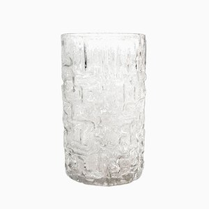 Vintage Carved Crystal Vase by Tapio Wirkkala for Littala
