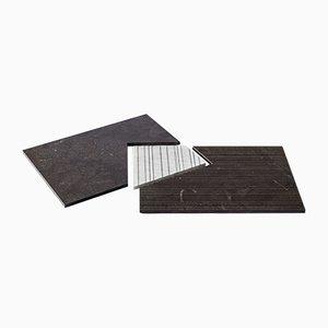 PLAT-EAU Classic 03 Tablett aus Naturstein von Silvia Fanticelli für Salvatori