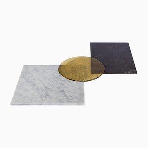 Vassoio PLAT-EAU in pietra naturale e vetro soffiato di Silvia Fanticelli per Salvatori