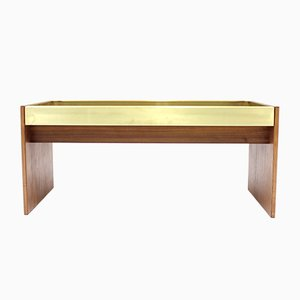Rosewood and Brass Planter, 1960s