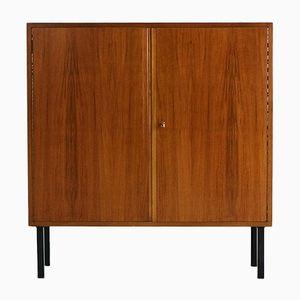 Kleines Highboard aus Walnuss & Stahl von WK Möbel, 1960er