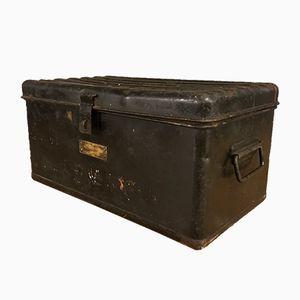 Schwarze Vintage Aufbewahrungsbox aus Zinn